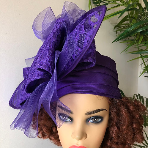 Shiny lyonia  Patterned Turban