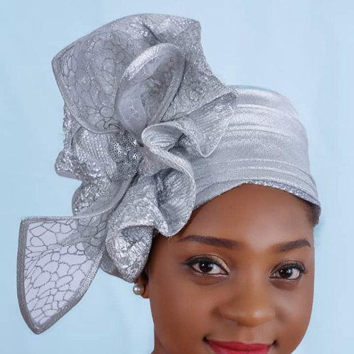 Silver vintage fascinator  hats