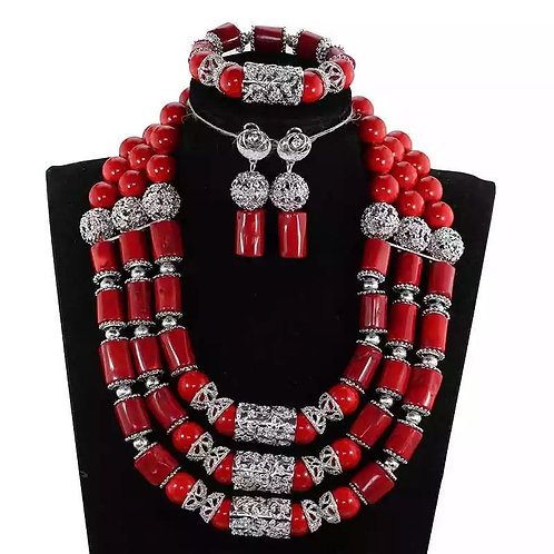 Real Coral Bead Necklace