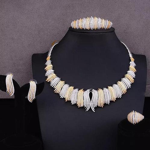 Luxury wedding CZ Necklace Sets