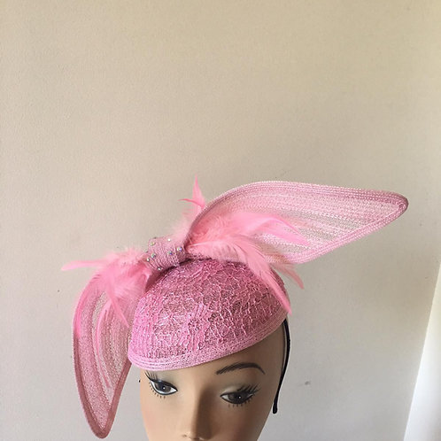 Pink vintage pillbox hat