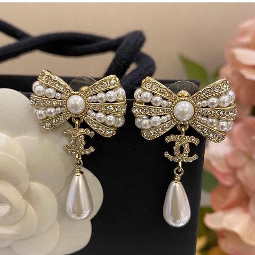 Vintage Pearl Chanel Earrings
