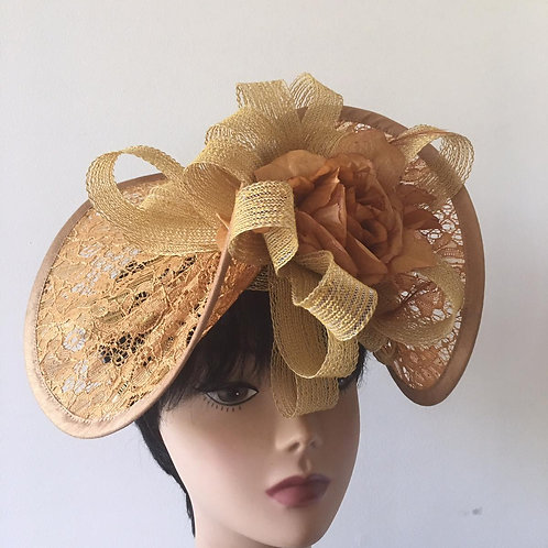 Fancy ribbon fascinator hat