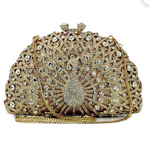 Peacock Clutch - Gold