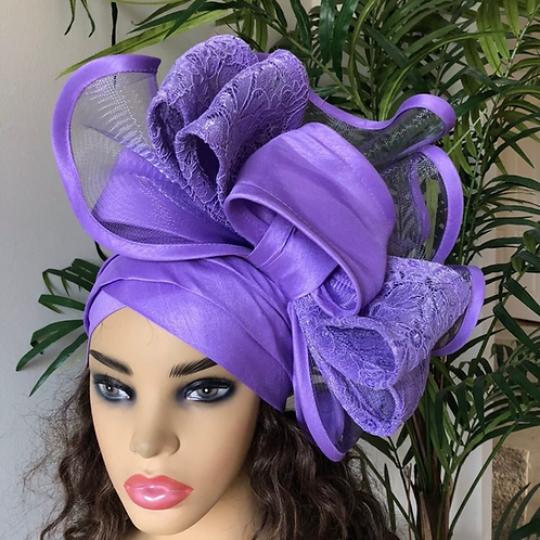 Sequin Bow Fascinator Turban