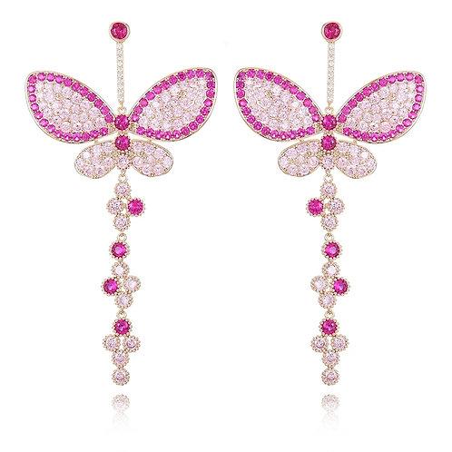 Moda Butterfly Gem Dangling Earring