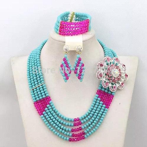Handmade Crystal bead Necklace Sets