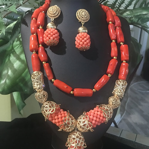 Hatina Coral bead sets
