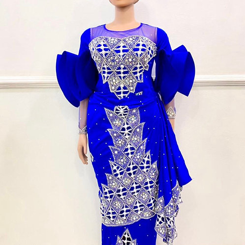 Royal Blue Silver Gown