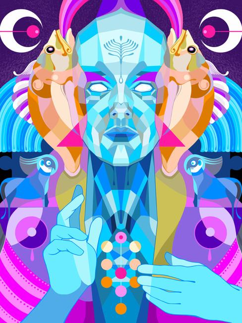 Arvore da vida – Digital illustration, 2020