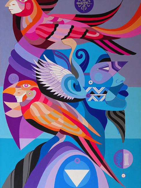 Trópico de Capricórnio – 90×60 cm, acrylic on canvas – 2019
