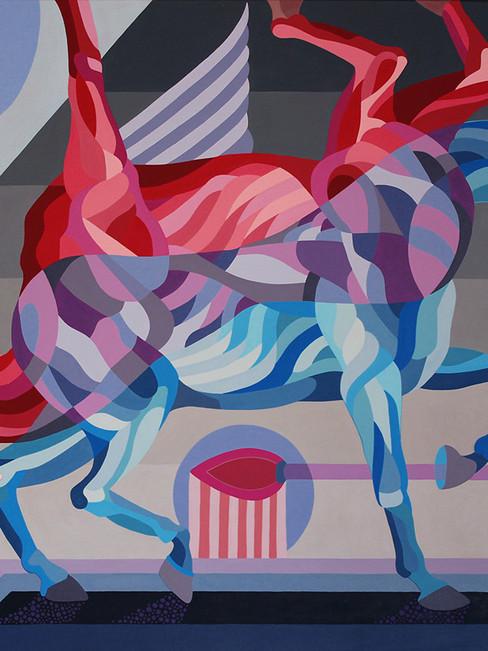 Um cavalo em duas dimensões – 130x90cm, acrylic on canvas – 2019