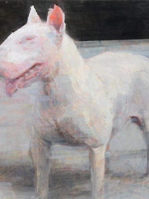 American Bull Terrier, oil on board, Norman Leto, Banach '07