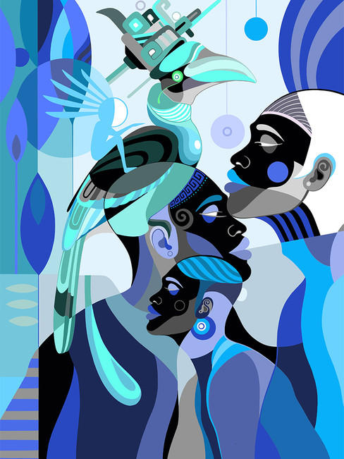 Luz azul – Digital illustration, 2019
