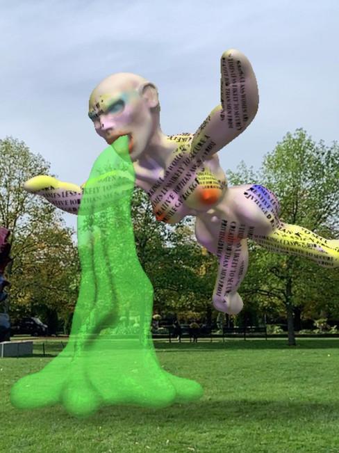 Digitally invading #friezesculpturepark
