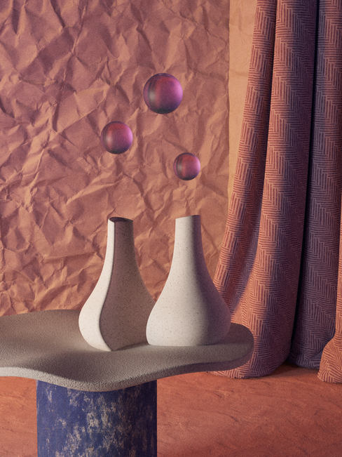 Siamese Vases On A Sheet