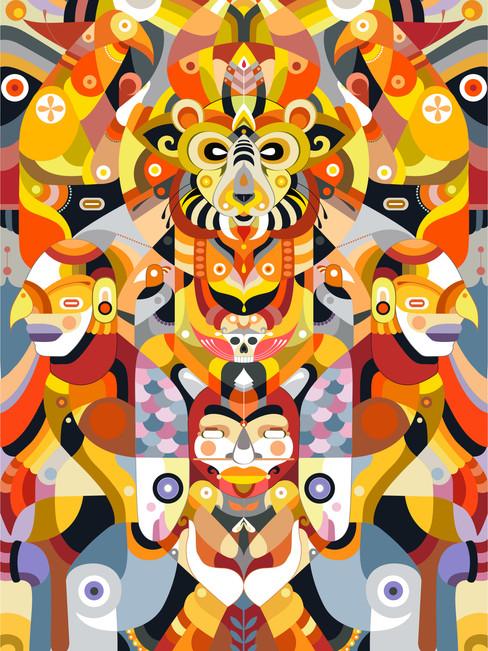 Felino de Sirius, Digital illustration