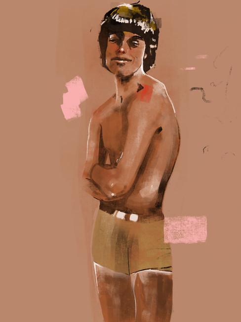 Study of Mick Jagger