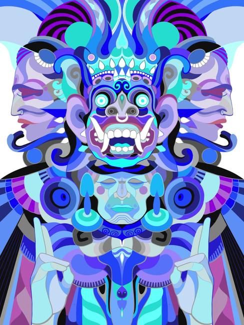Barong – Digital illustration, 2019