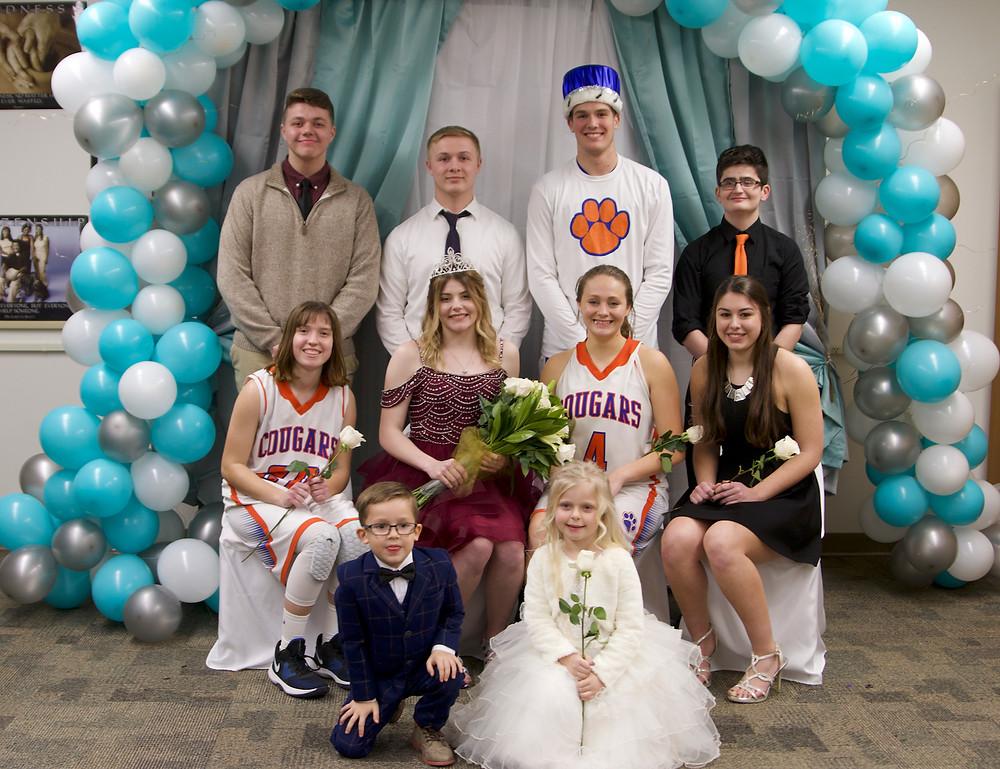 Winter Royalty. (b) Spencer, Kaden, Maitland, Ben (f) Sheridan, Anjoelina, Sidney, Kaleigh