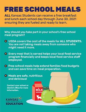 Free School Meals flyer