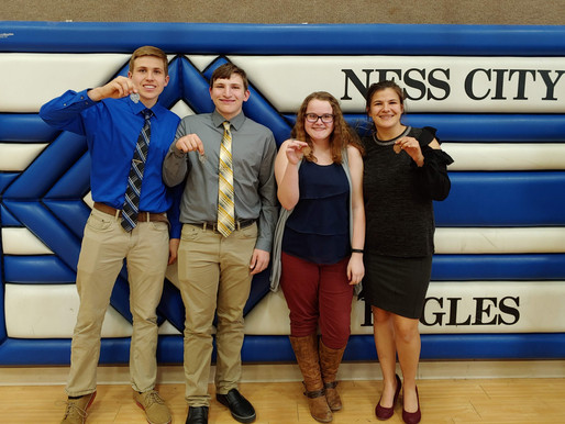 Otis-Bison Forensics 2nd in Central Prairie League