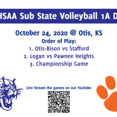 KSHSAA 1A DII Sub-State Volleyball Stream