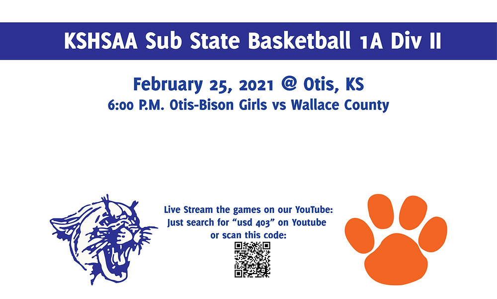 OBHS Girls vs Wallace County 6 PM