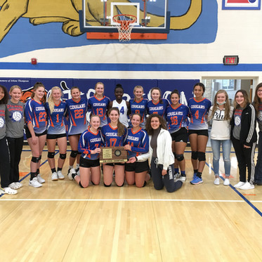 Lady Cougars win 1A DII Sub-State Volleyball!