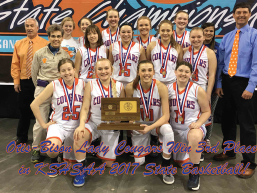OBHS Lady Cougars defeat Golden Plains to win 3rd Place in State!