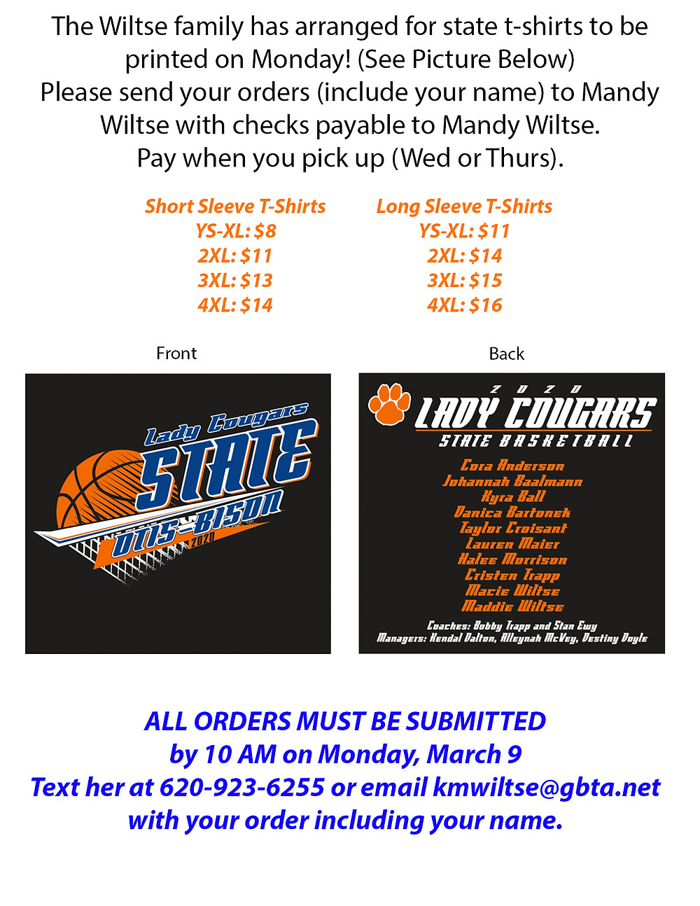 Flyer for shirts