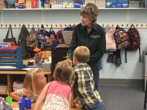 1st Grade Students visited by Kansas Wetlands Educational Center