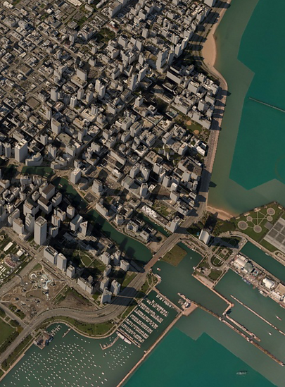3D Model of Chicago in Maproom for Autodesk 3DS Max