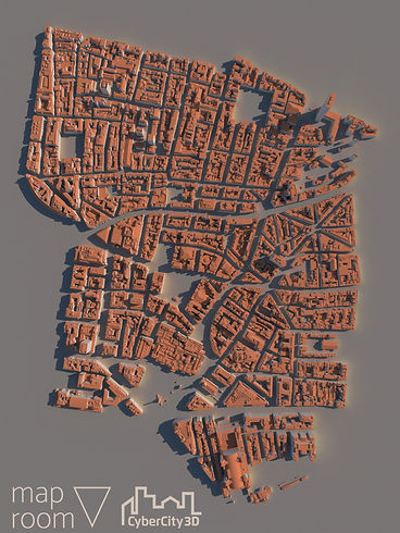 3D model of London in Maproom for Autodesk 3DS Max