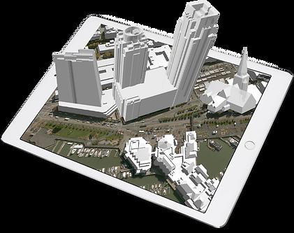 3D buildings stream on ipad