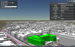 Georgetown campus planning 3D model