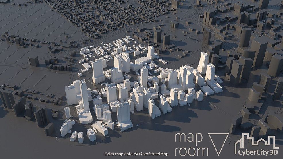 3D Model of Miami in Maproom for Autodesk 3DS Max