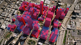 3D map visualization downtown los angeles