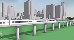 Transportation Rail 3D model