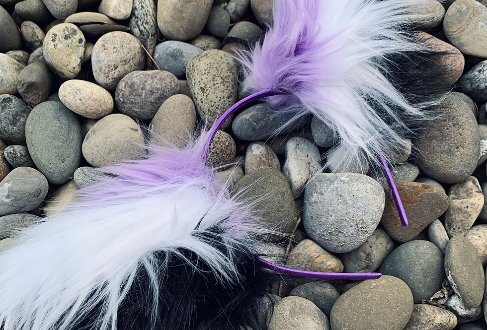 Purple and Black Fox Ears