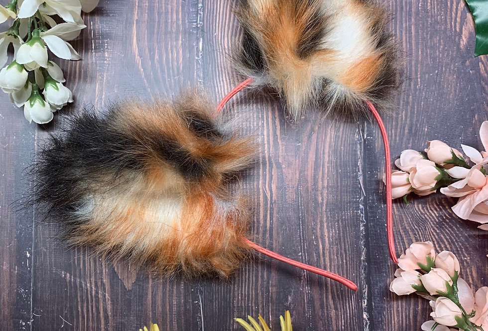 Realistic Rust Red Cat Ears