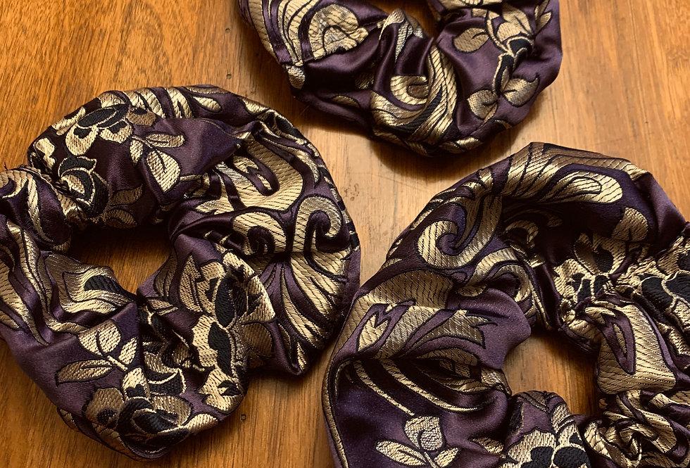 Scrunchie Brocade Hair Ties