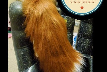 Medium Realistic Red Fox Tail
