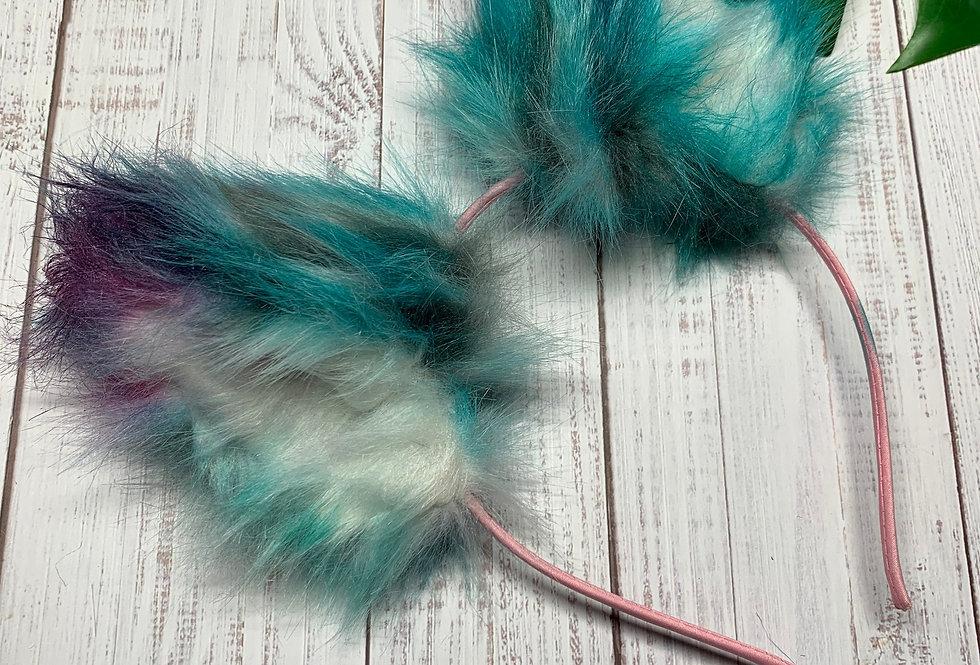 Blue and Purple Kitten Ears