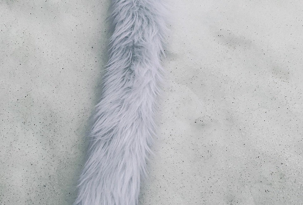 Glowing White Cat Fursuit Tail