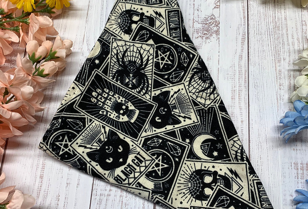 Black Tarot Card Fursuit Bandana
