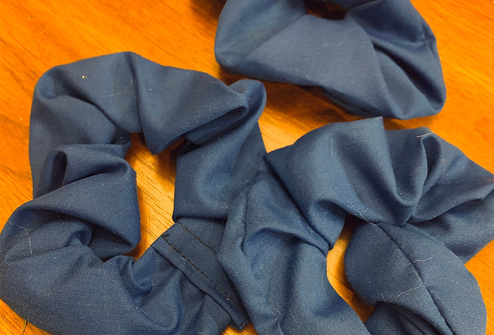 Blue Scrunchie Handmade, Hair Accessories
