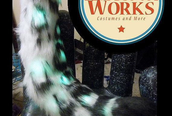 Custom Snow Leopard Fursuit Tail Commission