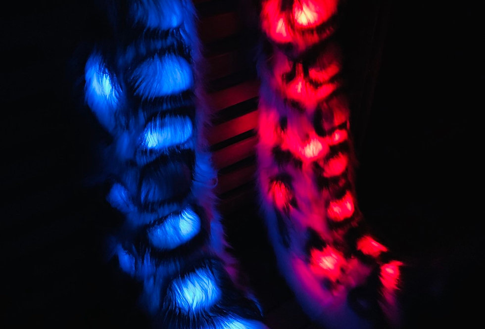 Glowing Leopard Fursuit Tail