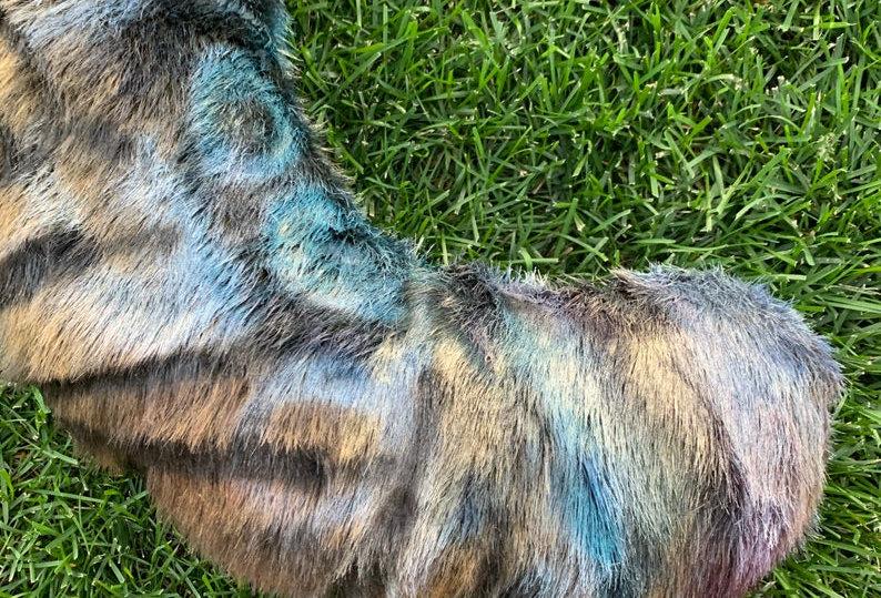 XXL Metallic Alien Cat Tail